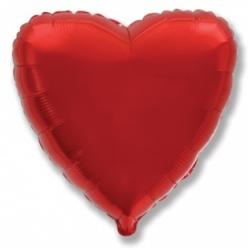Шар сердце красный 45 см