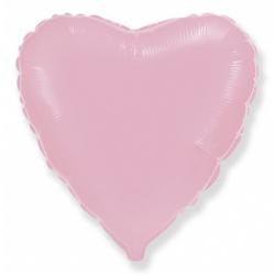 Шар сердце розовый 45 см