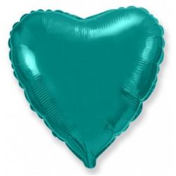 Шар сердце тиффани 45 см