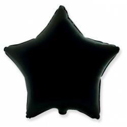 Шар звезда черная 45 см
