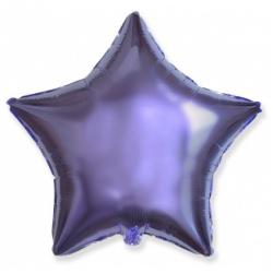 Шар звезда сиреневая 45 см