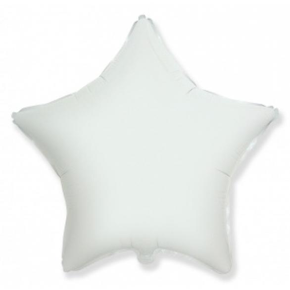 Шар звезда белая 45 см