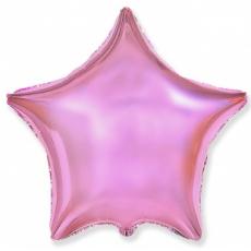 Шар звезда светло-розовая 45 см
