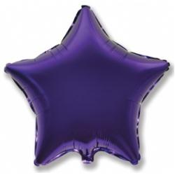 Шар звезда фиолетовая 45 см