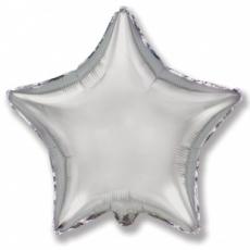 Шар звезда серебряная 45 см