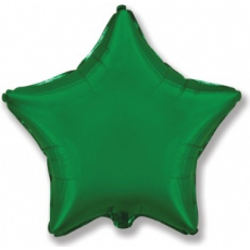 Шар звезда зеленая 45 см