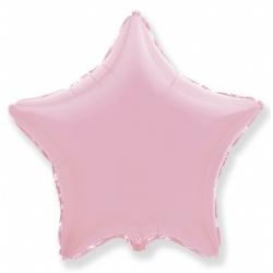 Шар звезда розовая 45 см