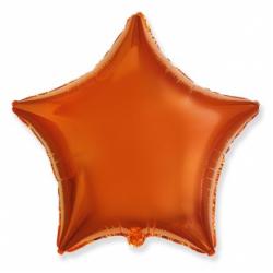Шар звезда оранжевая 45 см