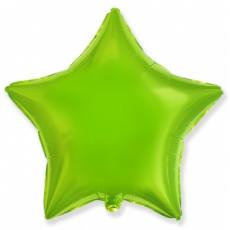 Шар звезда лайм 45 см