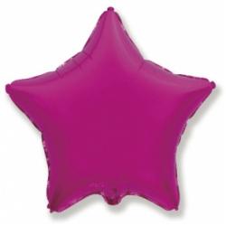 Шар звезда пурпурная 45 см