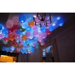 Светящиеся шары под потолок 100 штук