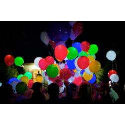 Запуск светящихся шаров 50 штук