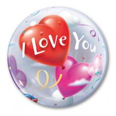 BUBBLE 55 см I Love You Шары-Сердца