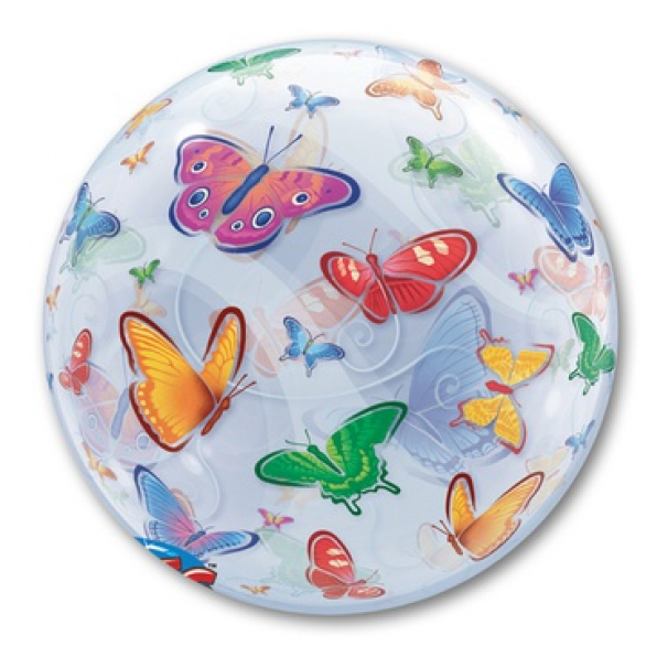 BUBBLE 55 см Бабочки