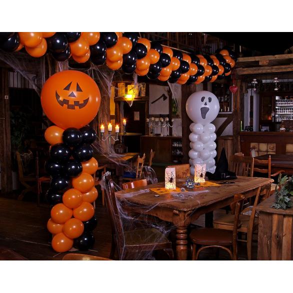 Тематическое оформление шарами на Хэллоуин