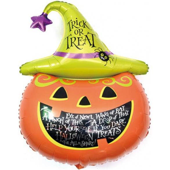 Воздушный шар Тыква на Хэллоуин в колпаке