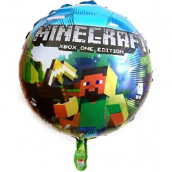 Воздушный шар (18''/46 см) Круг, Майнкрафт.