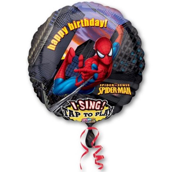 Воздушный шар Человек-паук поющий шар