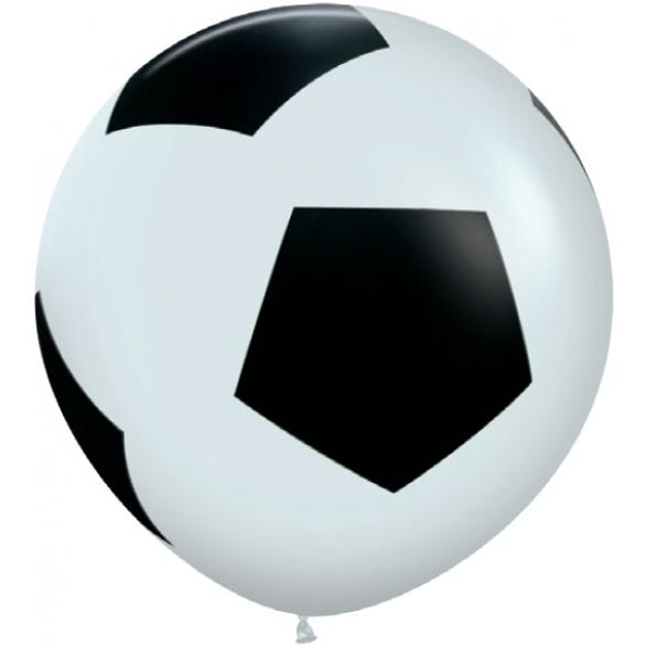 Воздушный шар (36''/91 см) Футбольный мяч, Белый