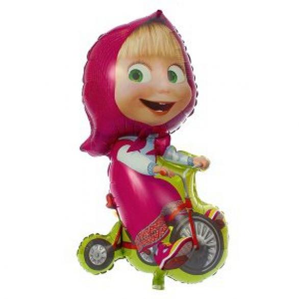 Воздушный шар Маша на велосипеде