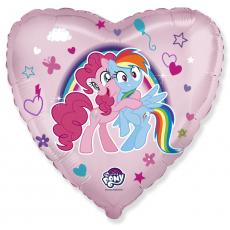 Шар сердце 45 см, Пони Пинки Пай и Радуга!