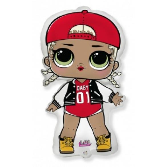 Воздушный шар фигура кукла ЛОЛ (LOL), модная подружка