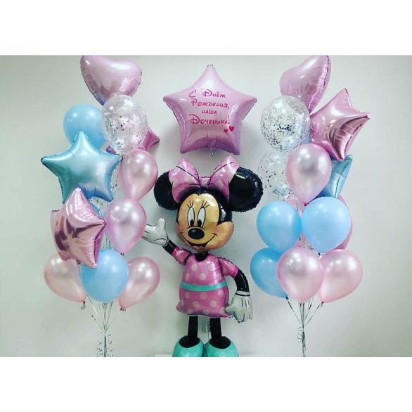 """Сет из воздушных шаров """"С днем рождения доченька"""""""