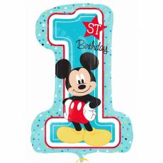 Шар цифра 1 Микки Маус Первый День Рождения 71 см