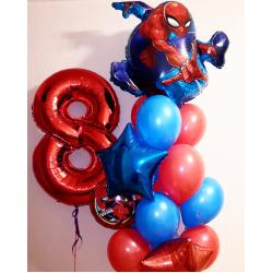 """Фонтан """"Человек паук"""" с красной цифрой"""