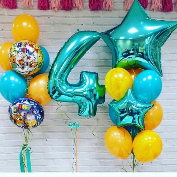 """Букет из шаров три кота """"День рождения тиффани"""""""