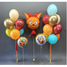 """Сет из шаров три кота """"Карамелька и друзья"""""""