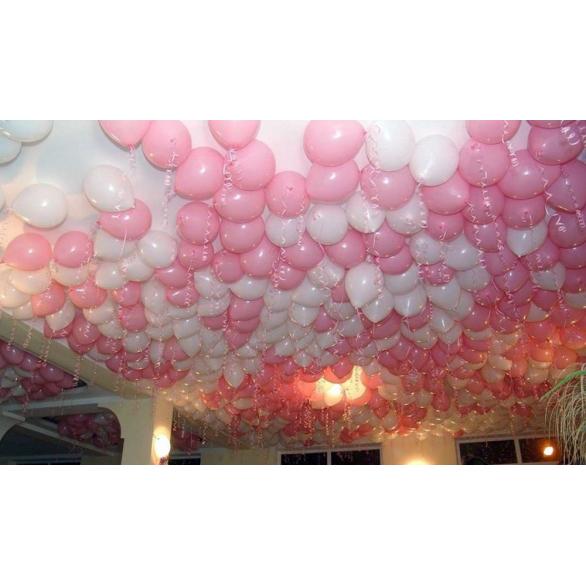 Шары под потолок белый, розовый