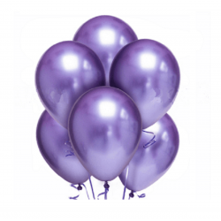 Облако из шаров хром фиолетовый