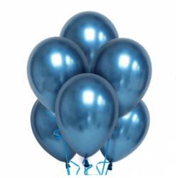 Облако из шаров хром синее