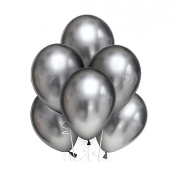 Облако из шаров хром серебро