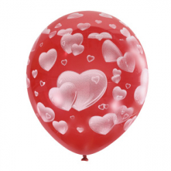 "Облако из шаров ""Красное сердечко"""