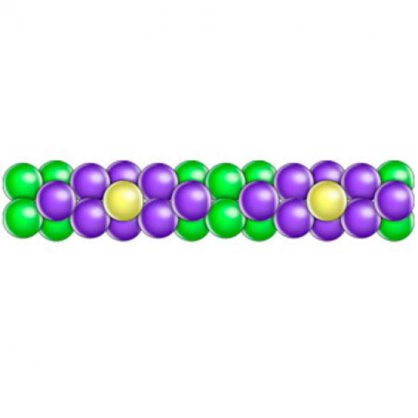 Гирлянда из шаров 3 цвета ромб