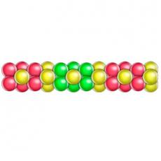 Гирлянда из шаров 3 цвета цветок