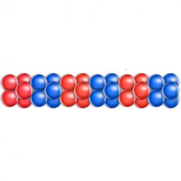 Гирлянда из шаров чередование 2 цвета