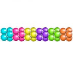 Гирлянда из шаров чередование 4 цвета