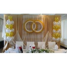 Оформление кольцами на свадьбу