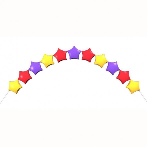 Гелиевая цепочка из звезд