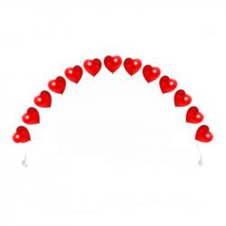 Гелиевая цепочка из сердец