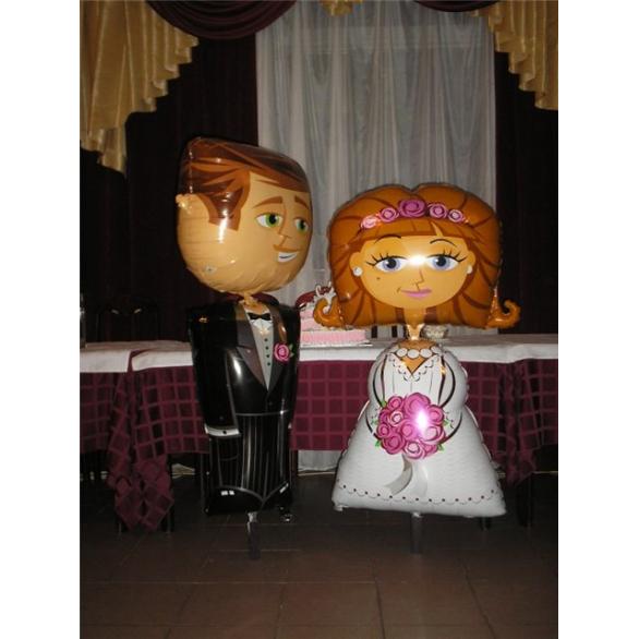 Жених и невеста из фольги