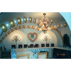 Оформление шарами зала