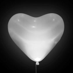 Светящиеся сердца белые
