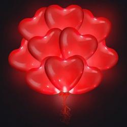 Светящиеся сердца красные