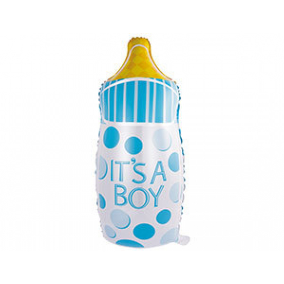 Фольгированный шар голубая бутылочка