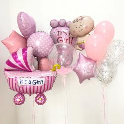 Воздушные шары на выписку У нас Дочка
